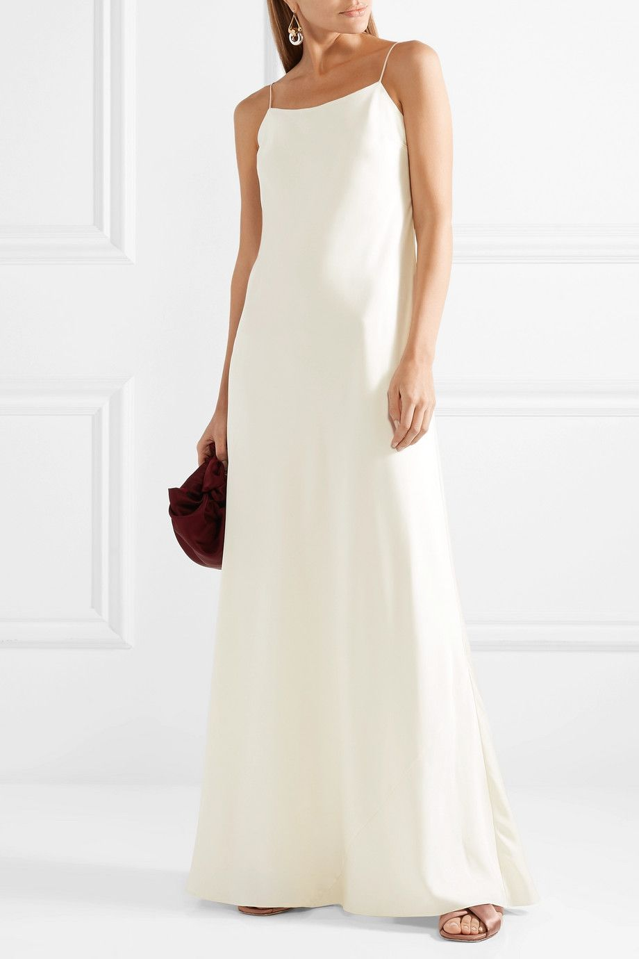 Ebbons Silk-twill Maxi Dress - Ivory The Row Discount Ebay Purchase Your Favorite  Cheap Sale Reliable Recommend Cheap Buy Cheap Best Store To Get pHKUgUXYS