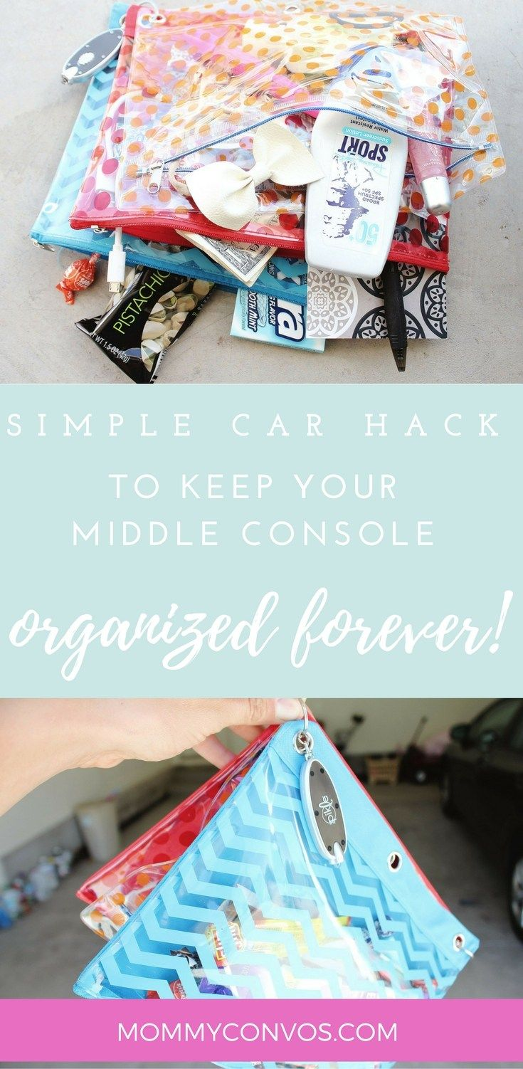Simple Car Hack To Keep Your Middle Console Organized Forever - Mommy Convos