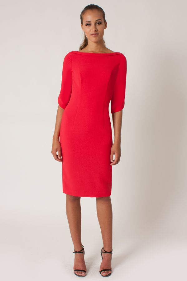 Black Halo | Nuelle Sheath - Chic Red | Step up your work-wear with ...