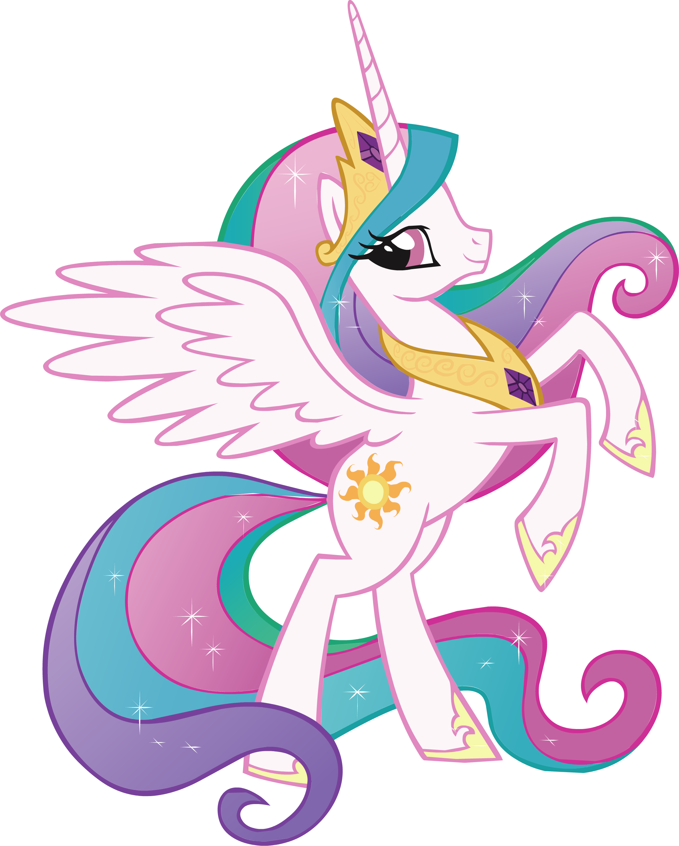 Princess celestia my little pony decal removable wall - Princesse poney ...
