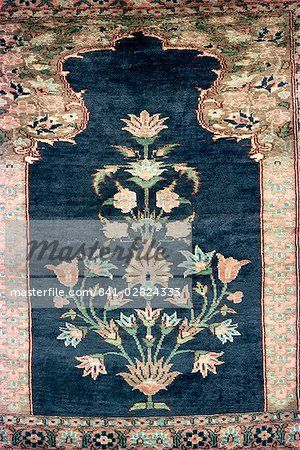 Mughal Floral Pattern Woven In Rug Karachi Pakistan Asia Stock Photos Masterfile Floral Pattern Mughal Traditional Indian Rug