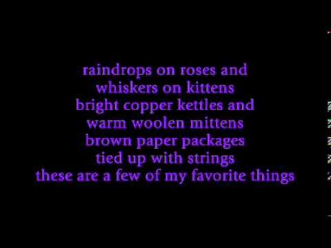 Julie Andrews Few Of My Favorite Things With Lyrics Youtube School Songs Song One Lyrics