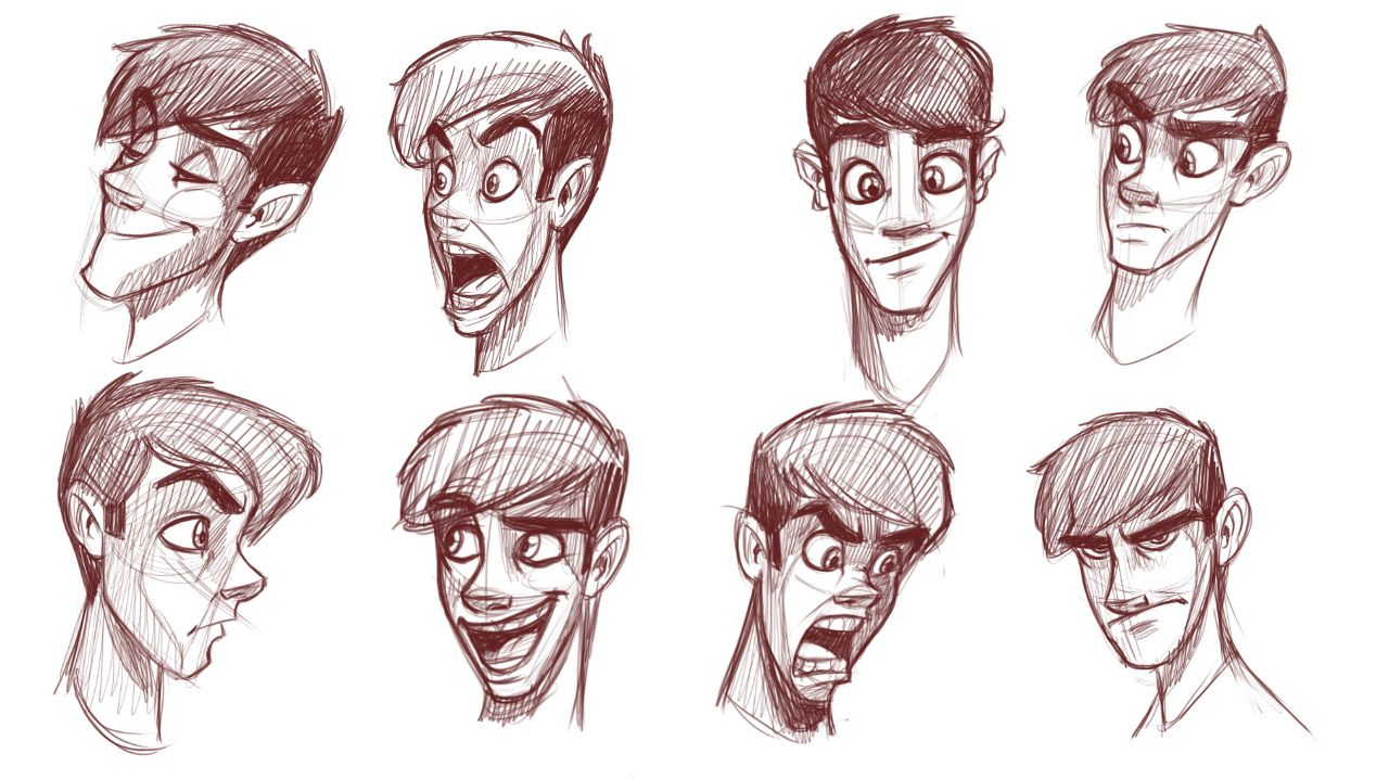 Scribble Drawing Style : How to draw heads of slim characters art references and tutorials pinterest