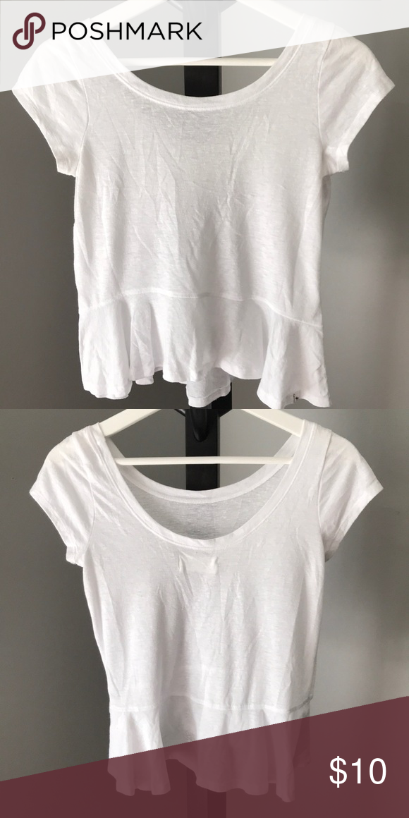 26a1cdf2c2a White Crop T Shirt white cropped t shirt with flowy bottom Abercrombie &  Fitch Tops Crop
