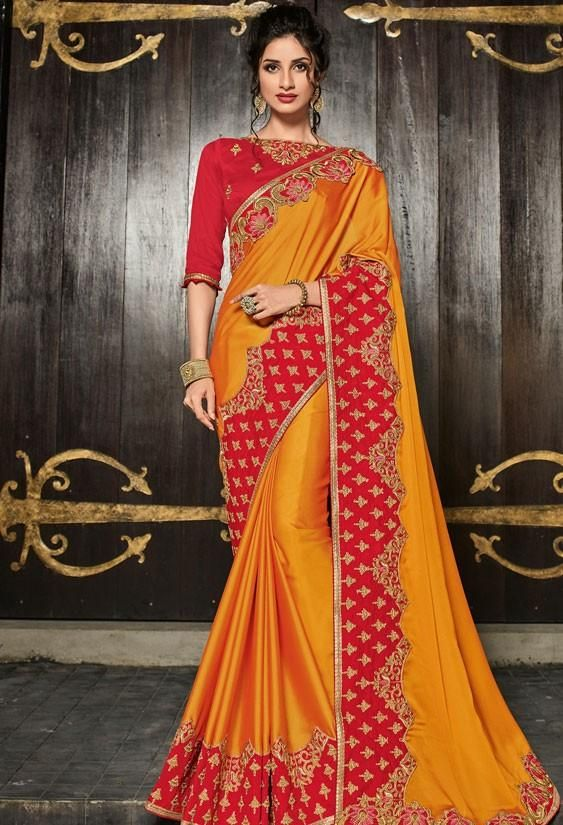 Photo of Wedding Saree Yellow Raw Silk Blouse is NOT dead33