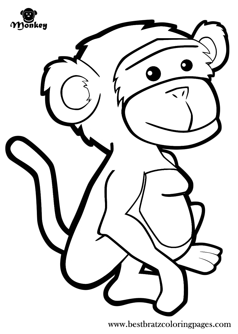 Free Printable Monkey Coloring Pages For Kids Monkey Coloring Pages Dolphin Coloring Pages Zoo Coloring Pages
