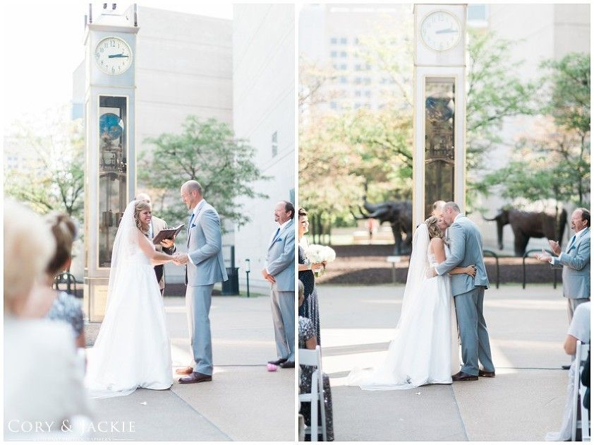 Brittan + Evan | Wedding Ceremony. Photos by Cory & Jackie. #IndianaStateMuseum