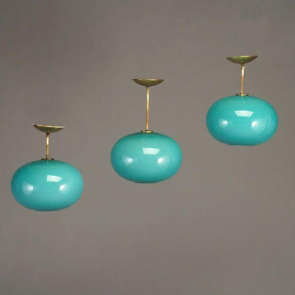 Aqua MCM Pendant Lamps