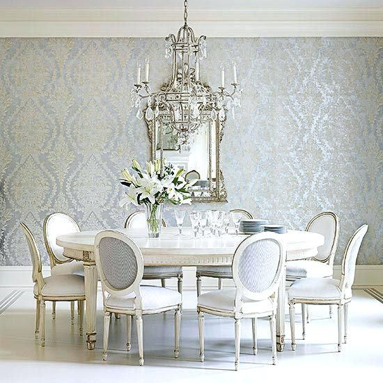 25 Awesome Traditional Dining Design Ideas: Classic Dining I So Want Awesome Dining Room Wallpaper One