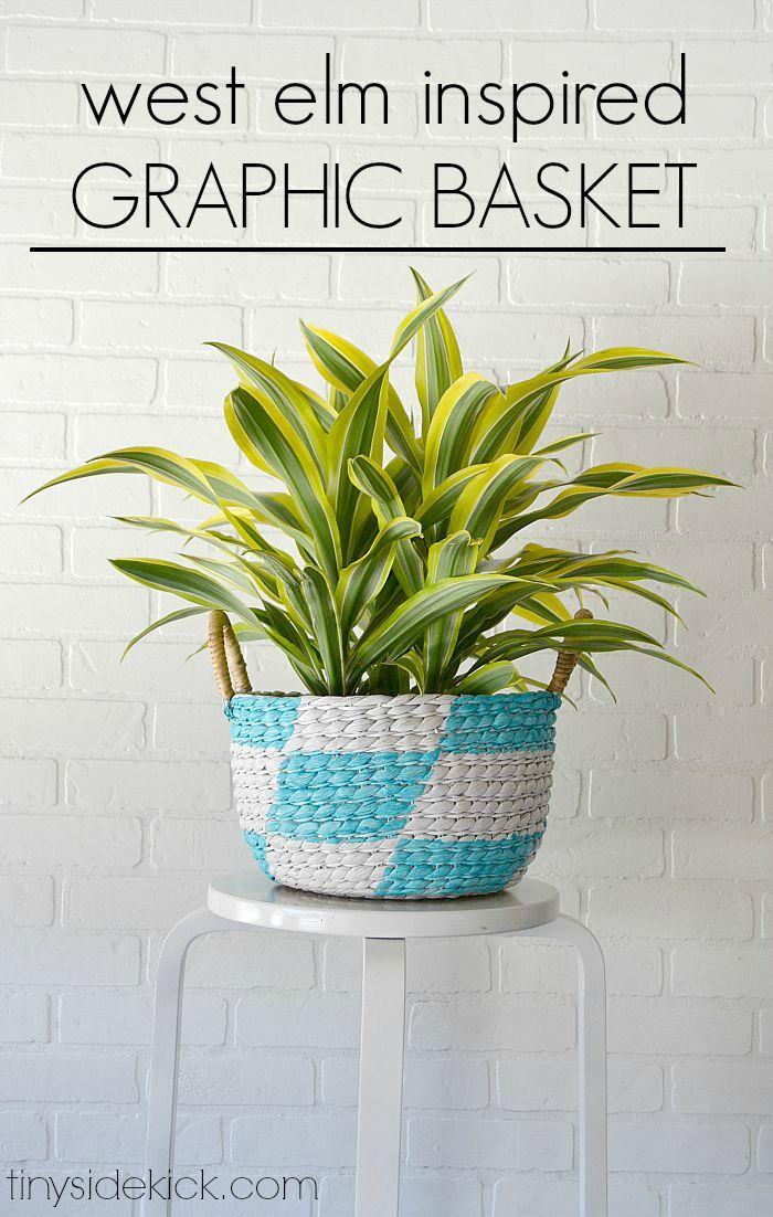 diy furniture west elm knock. West Elm Inspired Graphic Basket + $100 Home Depot Giveaway Diy Furniture Knock D