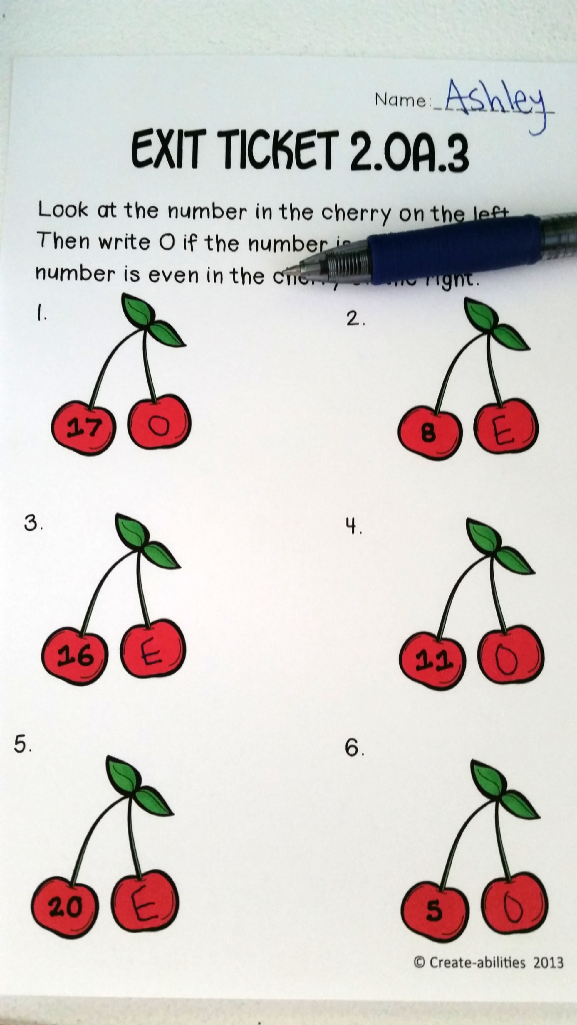 Even And Odd Numbers Math Tasks And Exit Tickets With