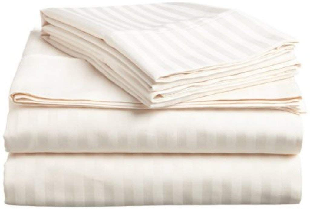 Infiniti Collection Authentic Heavy 1500 Tc Egyptian Cotton Bed Sheets King Size Hotel Luxury 4 Pcs B Egyptian Cotton Sheets Striped Bed Sheets Striped Sheets