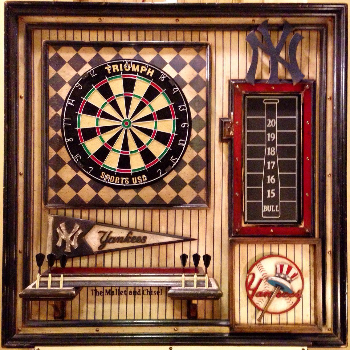 New York Yankees Single Dartboard Herrenzimmer Meister