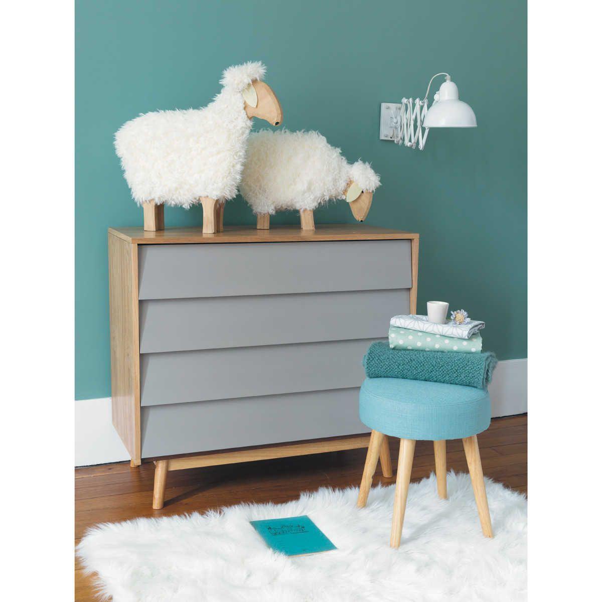 Commode vintage 4 tiroirs grise | Vintage bedroom furniture ...