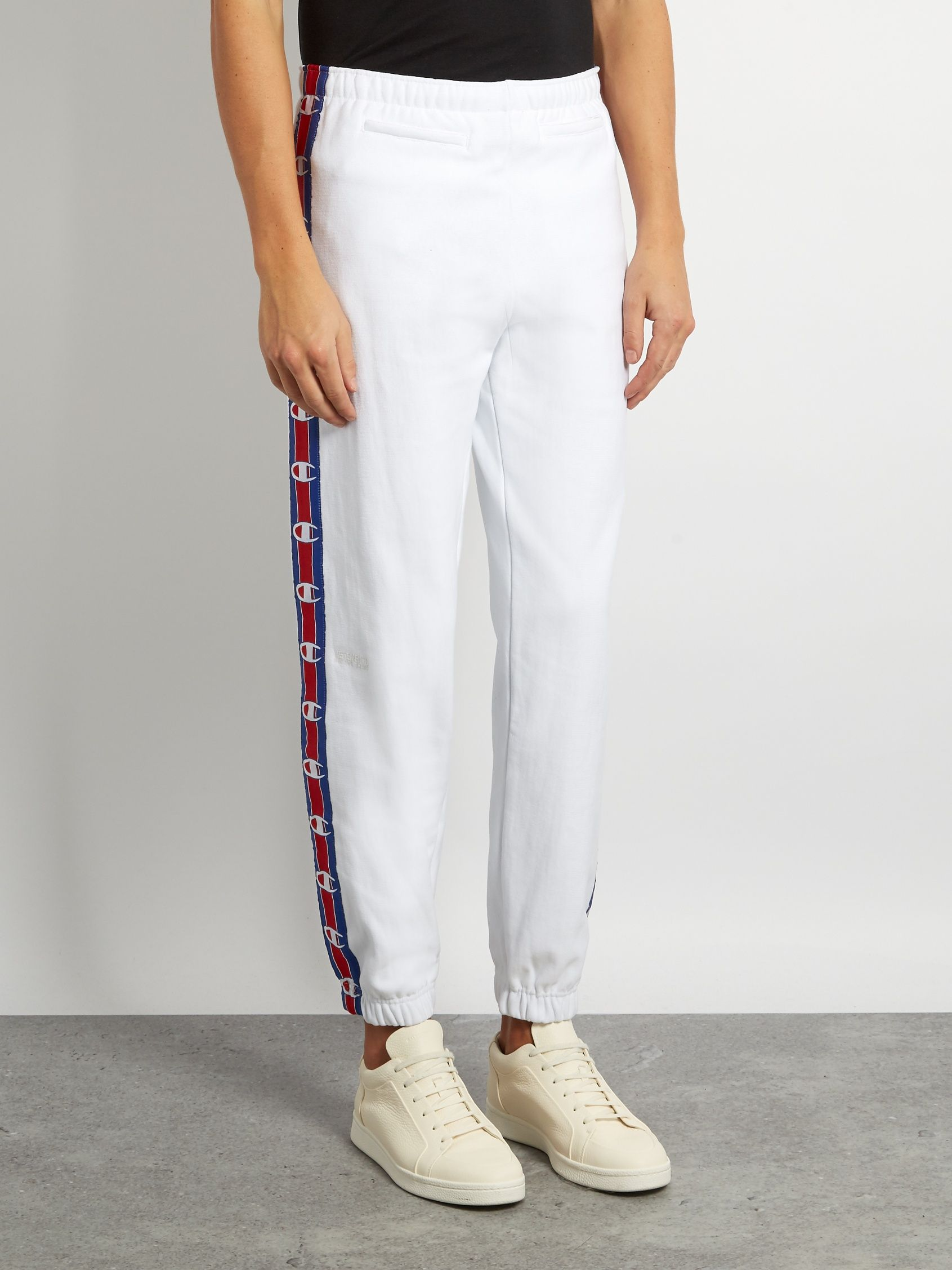 e8f4a5c2960a X Champion cotton-blend track pants | Vetements | MATCHESFASHION.COM ...