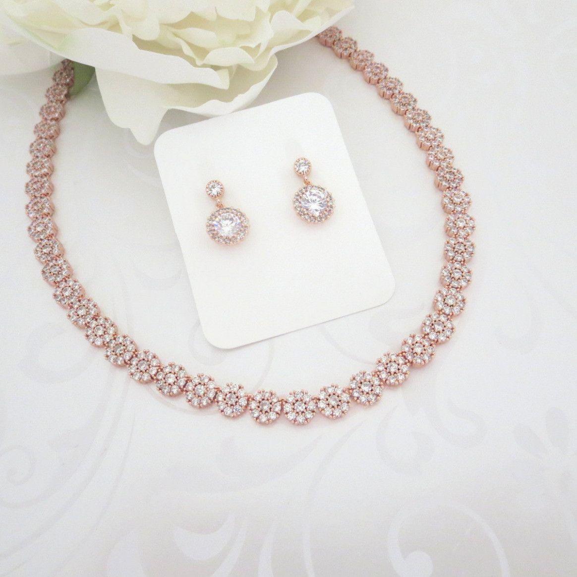 Minimalist wedding jewelry gold necklaces rose gold