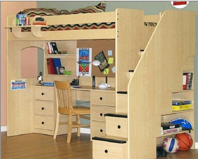 20 Bunk Beds So Incredible You Ll Almost Wish You Had To Share A Room Architecture Design Loft Bed Plans Kids Loft Beds Loft Bed Full size bed with desk underneath