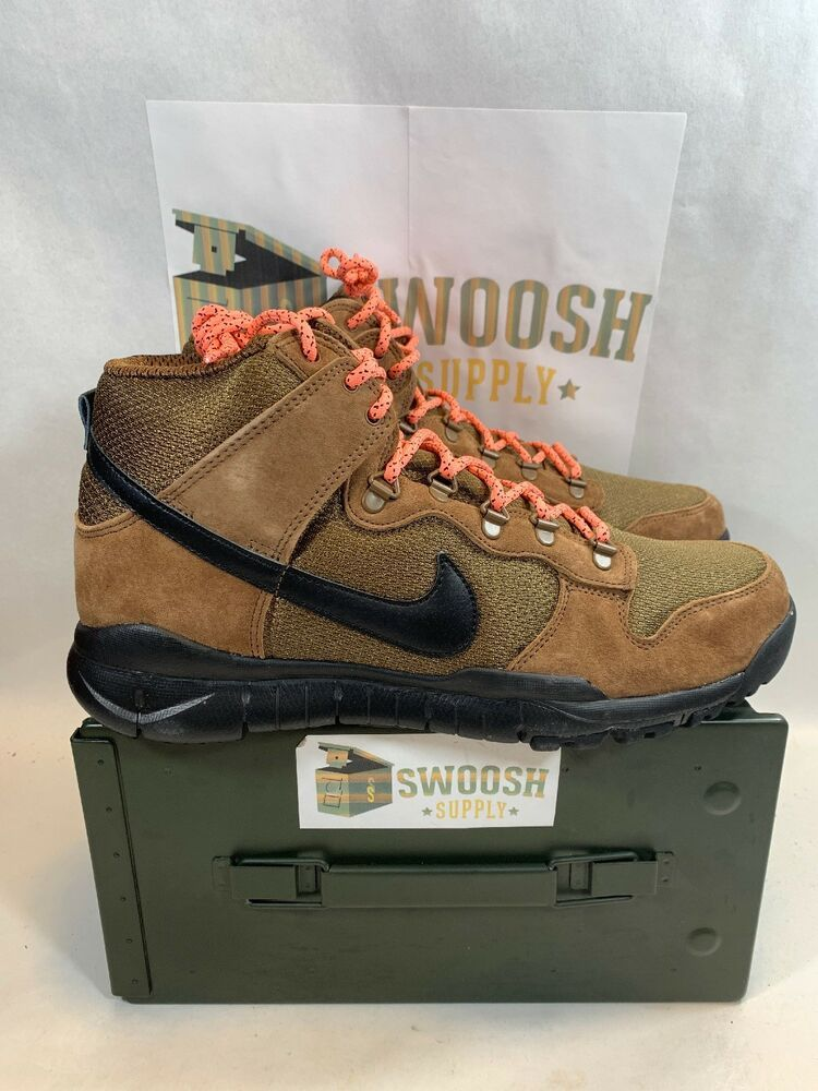 premium selection dda25 aa205 NEW NIKE SB DUNK HIGH BOOT SKATEBOARDING 536182-203 MILITARY BROWN BLACK SZ  10.5  Nike  Skateboarding. Find this Pin and more on Men s Footwear ...