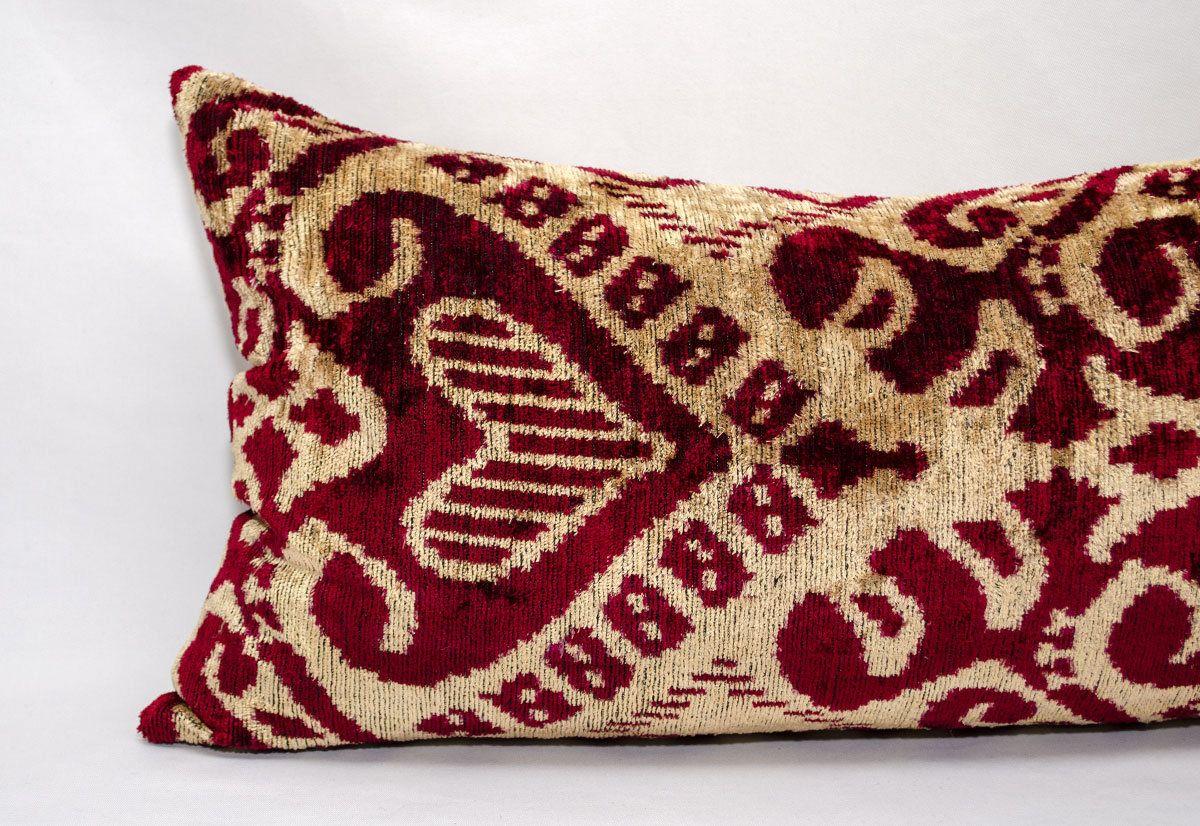 Gorgeous ikat velvet pillow cover Luxury handwoven Silk velvet ikat pillow cover