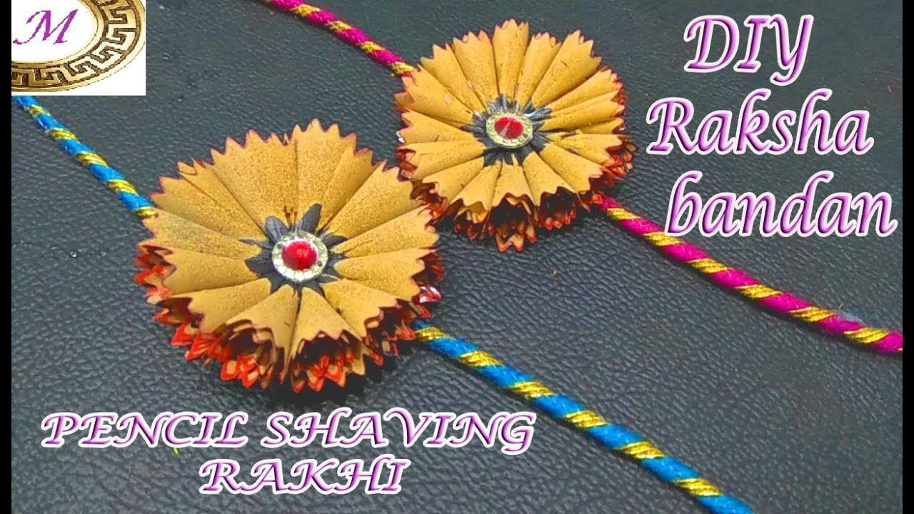 Pencil Shaving Rakhi Best Out Of Rakhi Making Innovative Rakhi