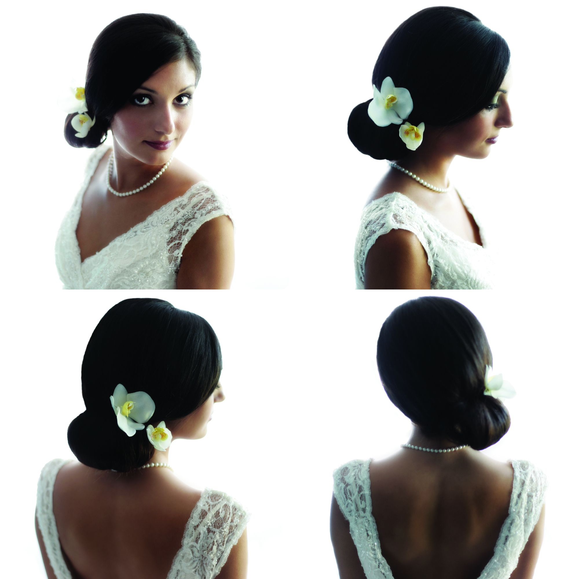 Bridal Shoot Updo - clean, simple and to the side. | September 2014 ...