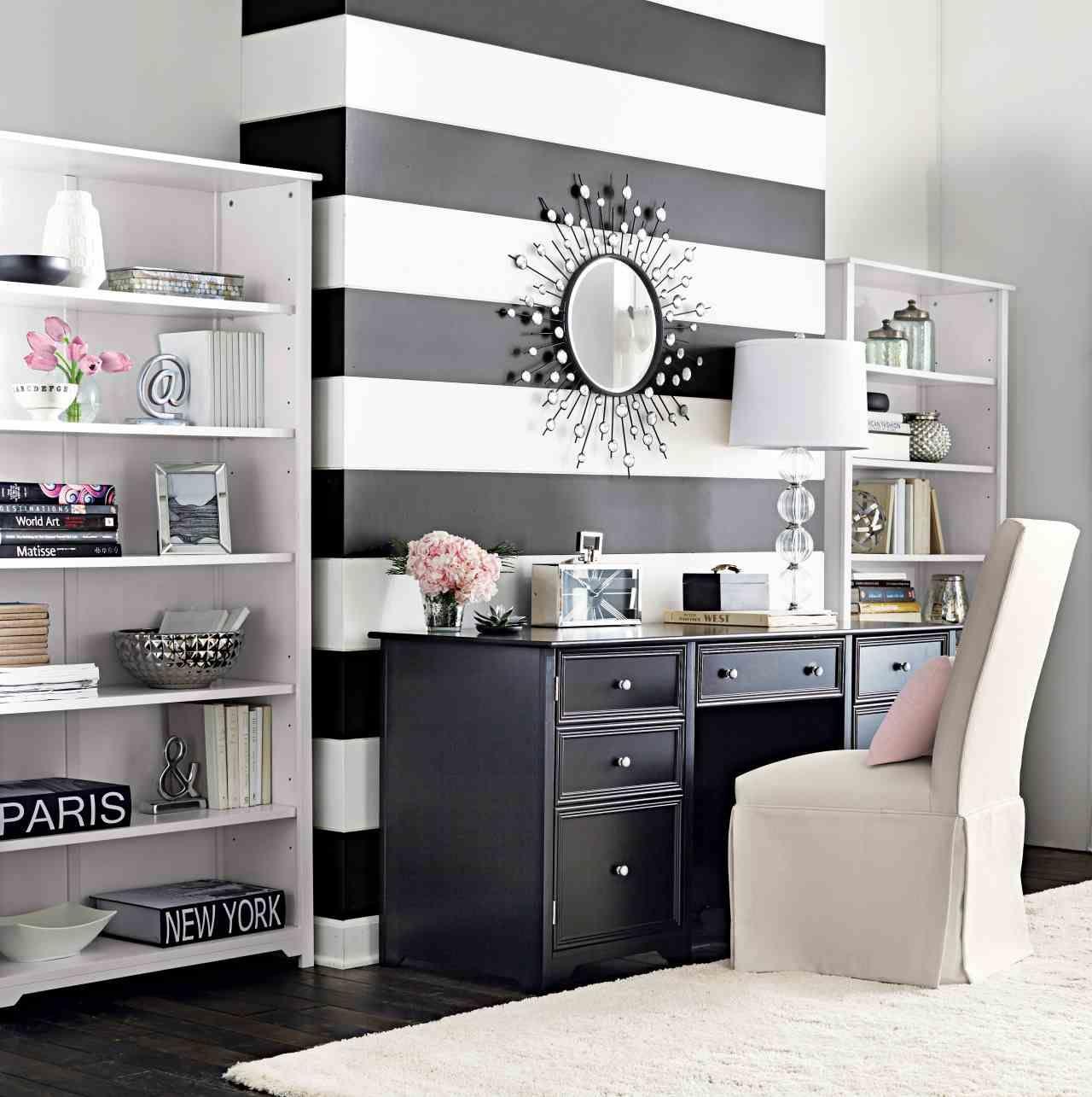 Incroyable Idee Deco Salon Noir Gris Blanc #19 - Papier Peint