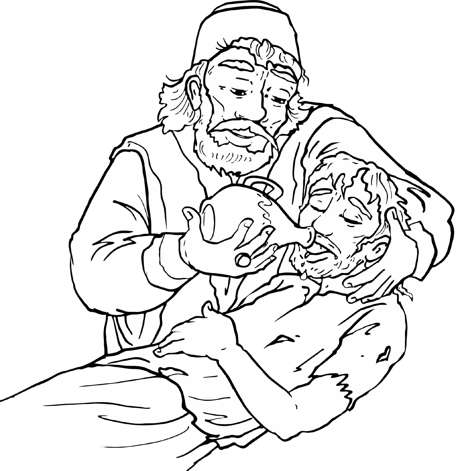 Der Barmherzige Samariter Ausmalbilder Biblisch Pinterest