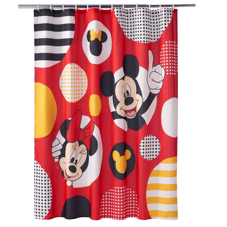 Disney S Mickey Minnie Mouse Polka Dot Shower Curtain Minnie