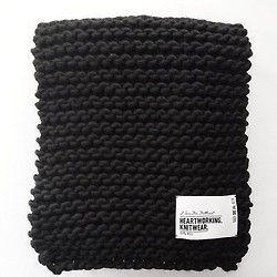 B&W. #billie #scarf #handmade #heartworking #knitwear #australia #ilovemrmittens  (at I love Mr.Mittens studio )