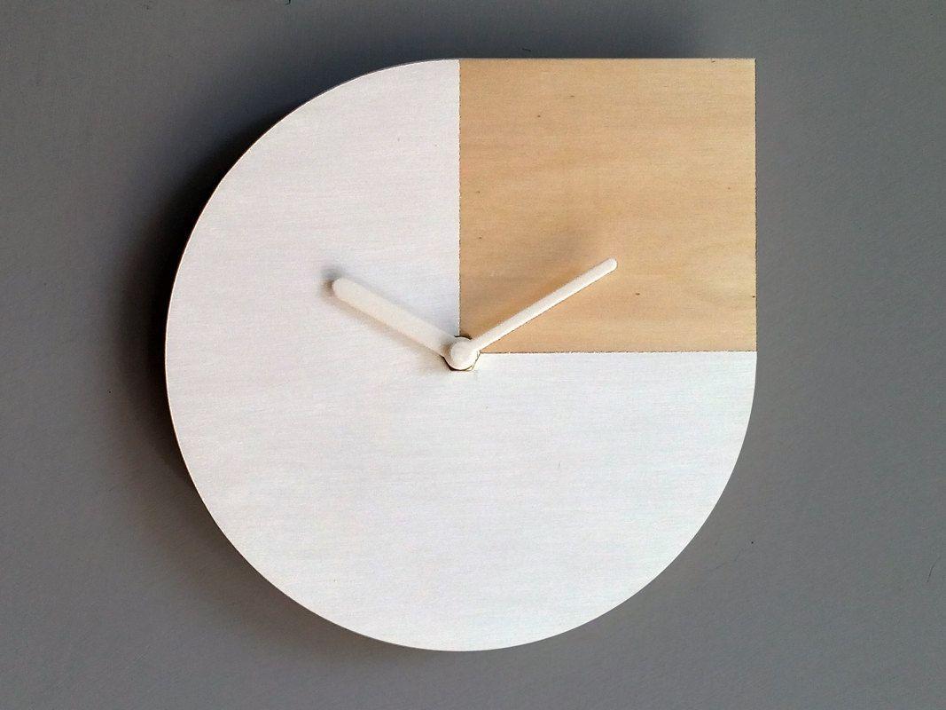 Decoupe Au Laser Horloge Murale En Bois Devis Dandy Warhol Minimalist Wall Clocks Wood Wall Clock Wall Clock Design
