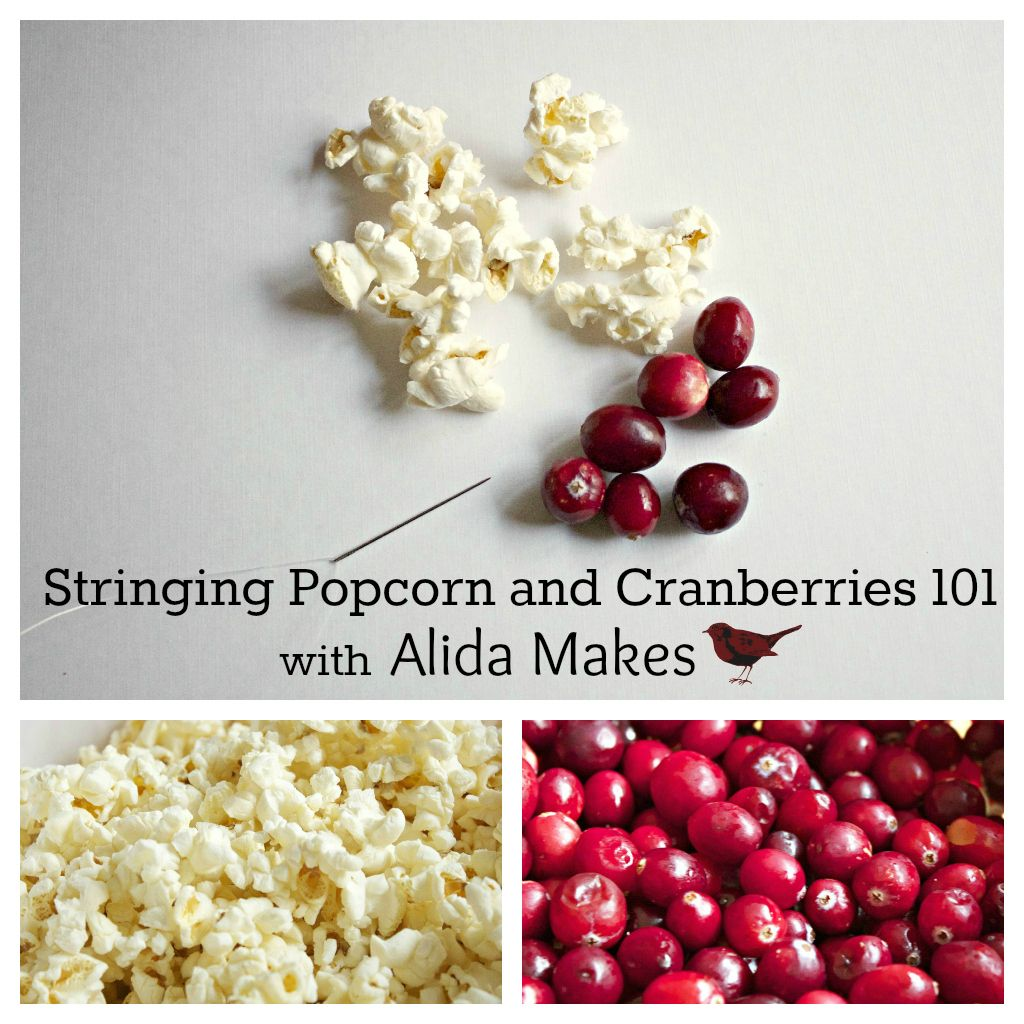 Alida Makes: Stringing Popcorn and Cranberry Garland 101. Such a ...
