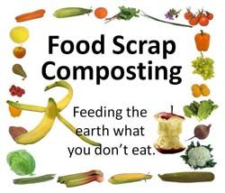 Compost Pail Kitchen Stone Island Graphic With All Types Of Fruits And Vegetables. ...