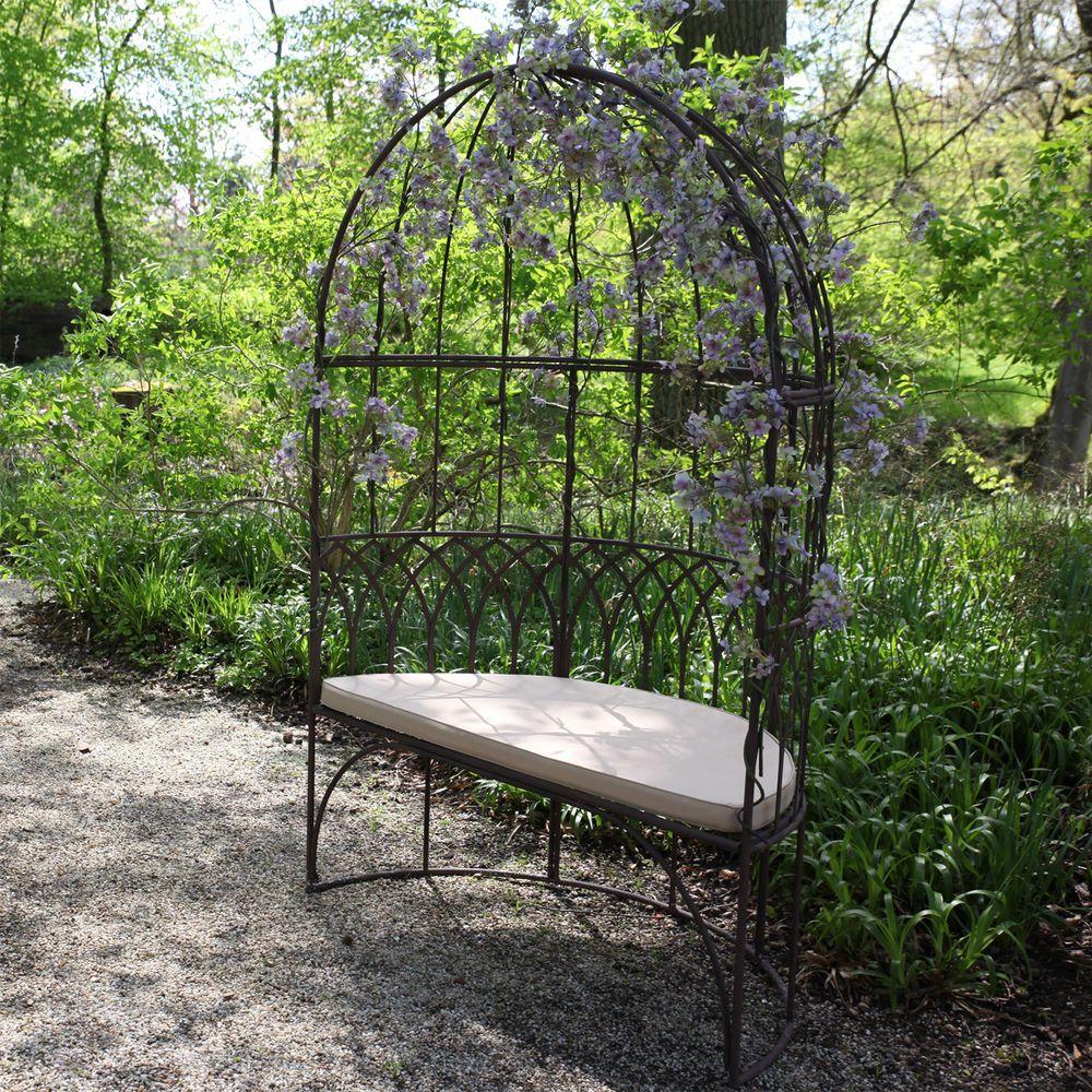Metal Arbour Bench Seat 2 Seater Outdoor Garden Patio Gazebo Style Furniture In 2020 Gartenmobel Sets Aussensitzbank Gartensessel