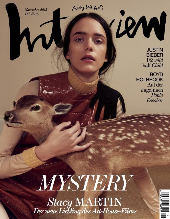 ea2c579eea9 Stacy Martin in Interview Germany Magazine November 2015 Covers Photoshoot  Fashion Cover