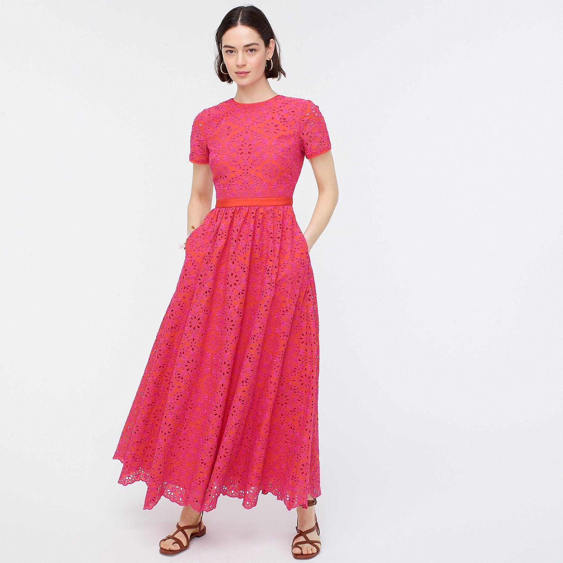 Short Sleeve Maxi Dress In Eyelet Womens Maxi Dresses Short Sleeve Maxi Dresses Maxi Dress With Sleeves [ 1800 x 1800 Pixel ]