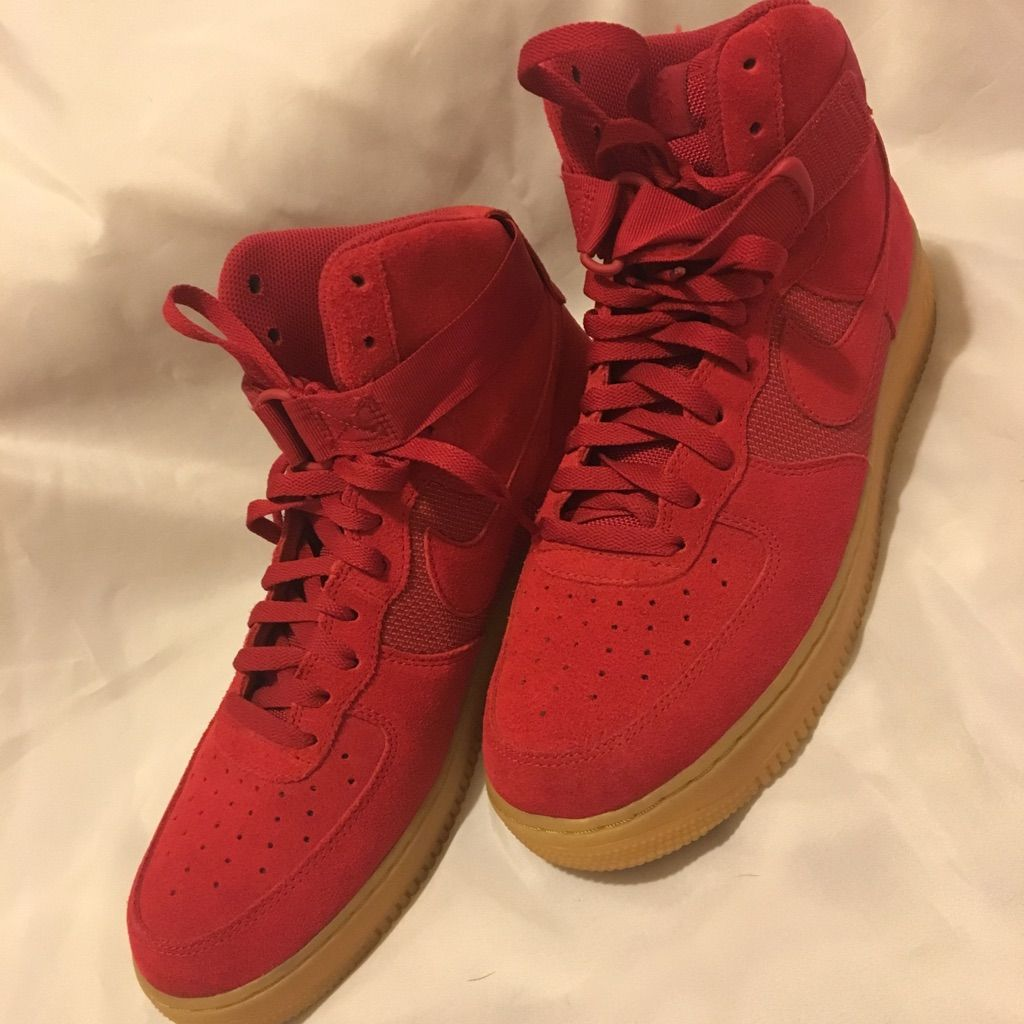 Nike Shoes Mens Nike High Top Suede Air Force 1 Color Red