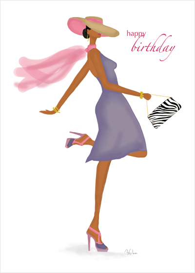 Fabulous Birthday Card Art Fashion Illustration Cards From Stay