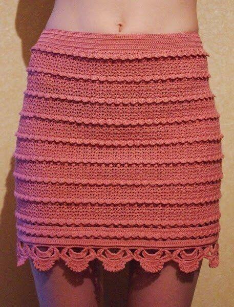 34258dc59 Como tejer una falda pegada a crochet para dama06   Doll   Patrón ...