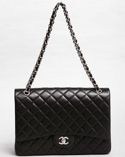 4d027d8202598d Chanel Black Lambskin Maxi Classic Flap Bag $5149 | Wearables (the ...