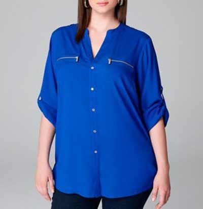 3a0cf15ae6 Camisas Plus Size Femininas Online  Fotos e Modelos