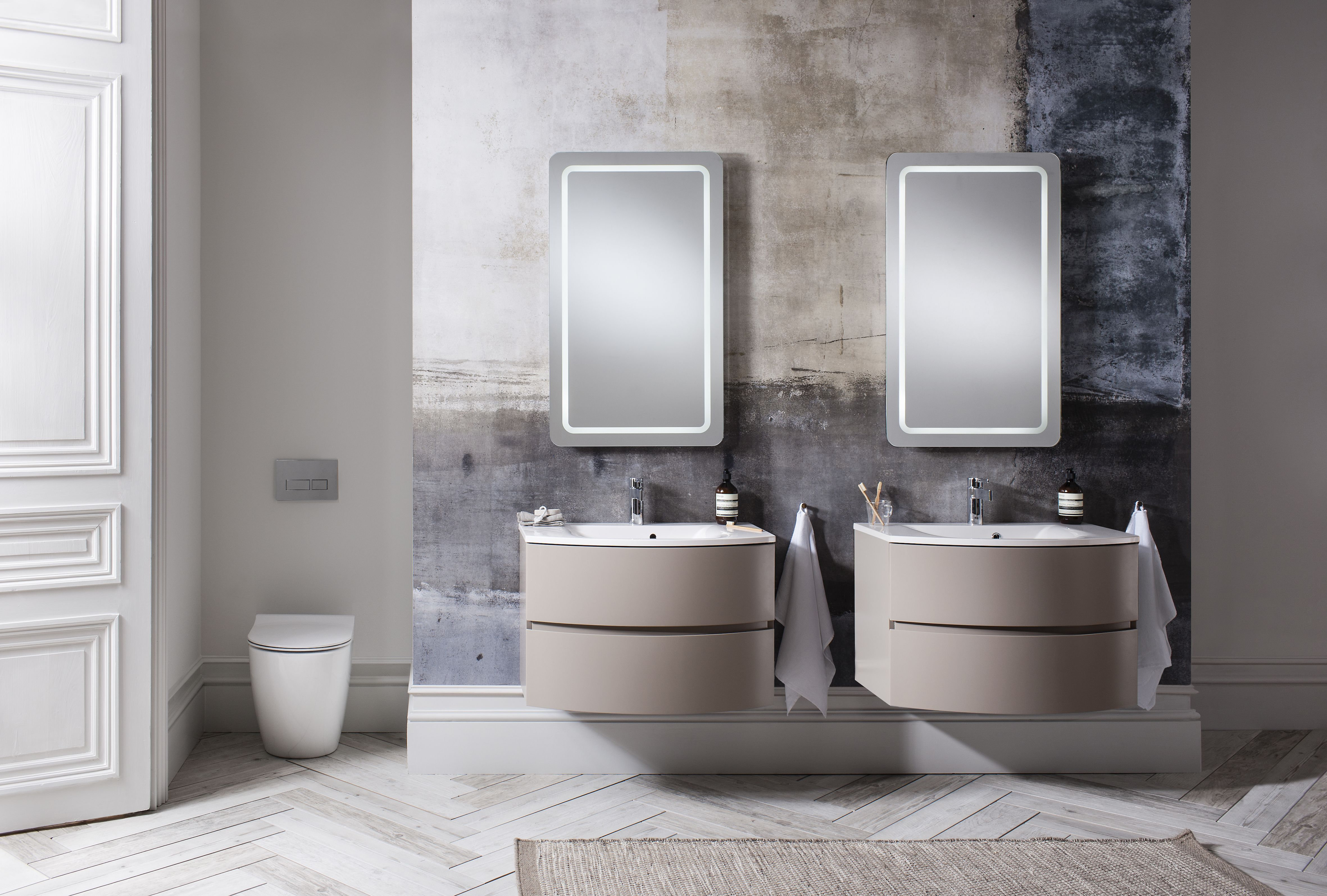 The mochatoned range will add a touch of elegance to bathrooms