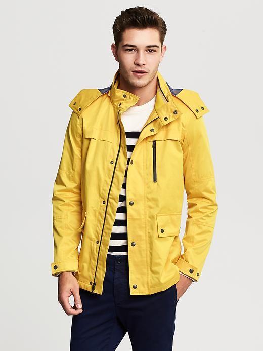 Classic And Fun Men S Yellow Jacket Bananarepublic Sailing Style