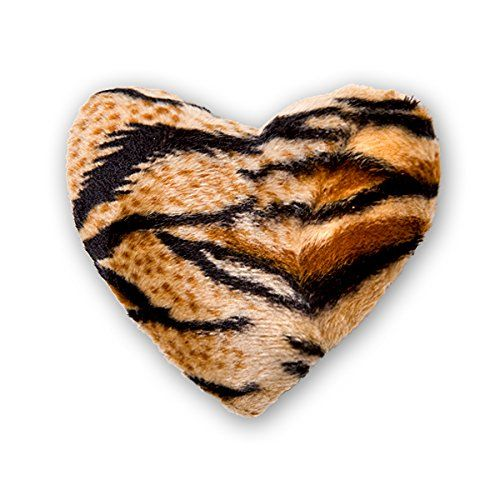 Priscillas 100 Organic Tiger Catnip Refillable Pillow Heart Toy for your Pet Kitty Cat *** Check this awesome product by going to the link at the image.