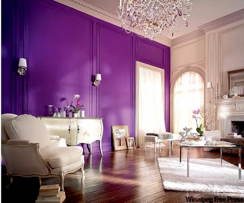 purple+wall | ... has purple crystals that help carry the purple throughout the space