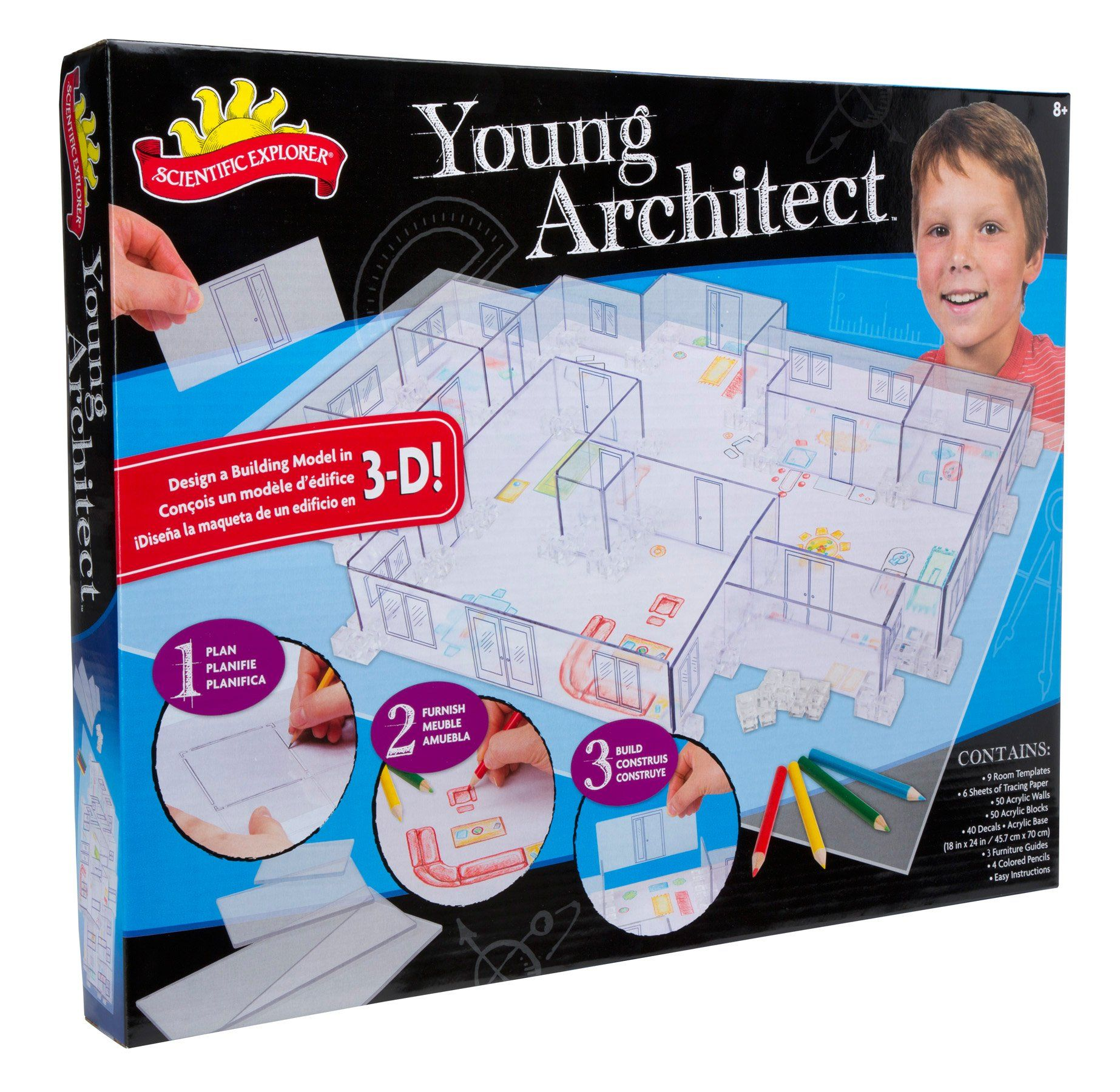Scientific Explorer Young Architect Building Set Theres A Less Amazoncom Snap Circuits Sc300 Electronics Discovery Kit Toys Expensive Paper House That