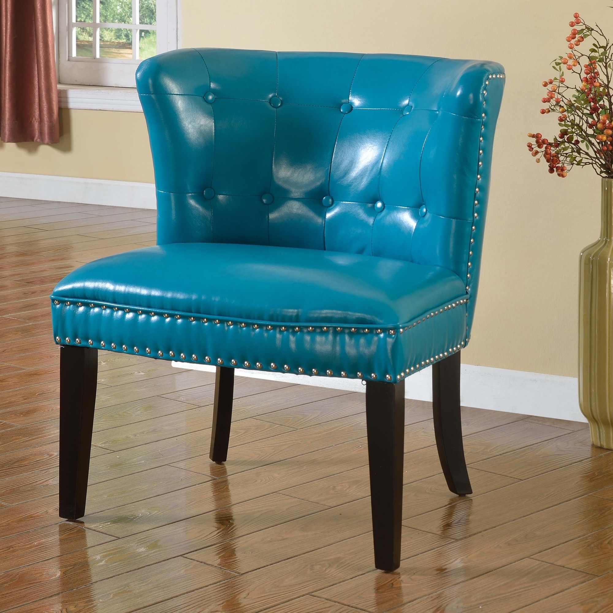 Faux Leather Living Room Barrel Chair