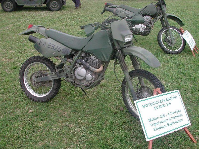 Motocicletas empleadas por el Ejercito Argentino