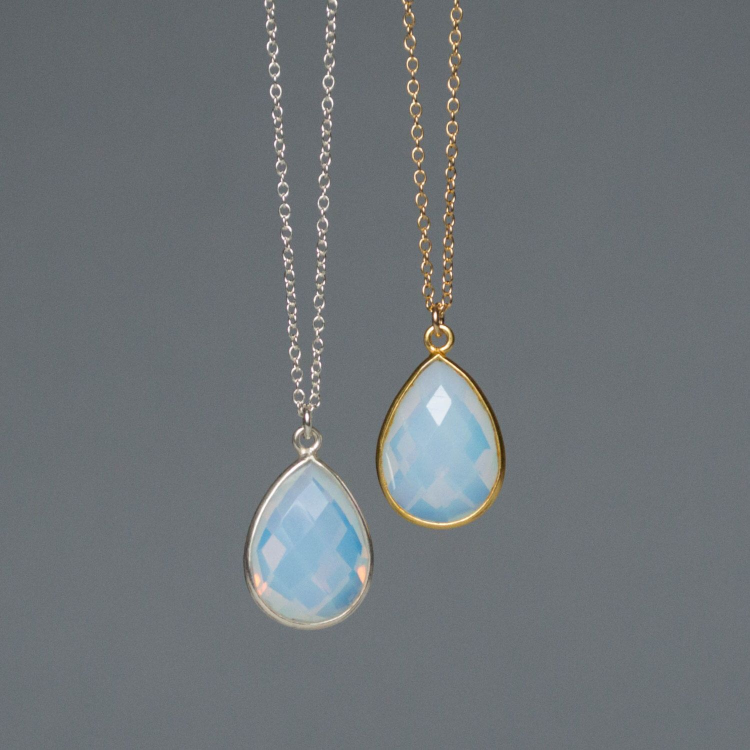 necklaces collections gems dainty products salt minimal necklace opalite city opal pendant