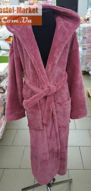 bbf2d08e5d82 Махровый халат для подростков Zeron темно-розовый. Купить Махровый халат  для подростков Zeron темно