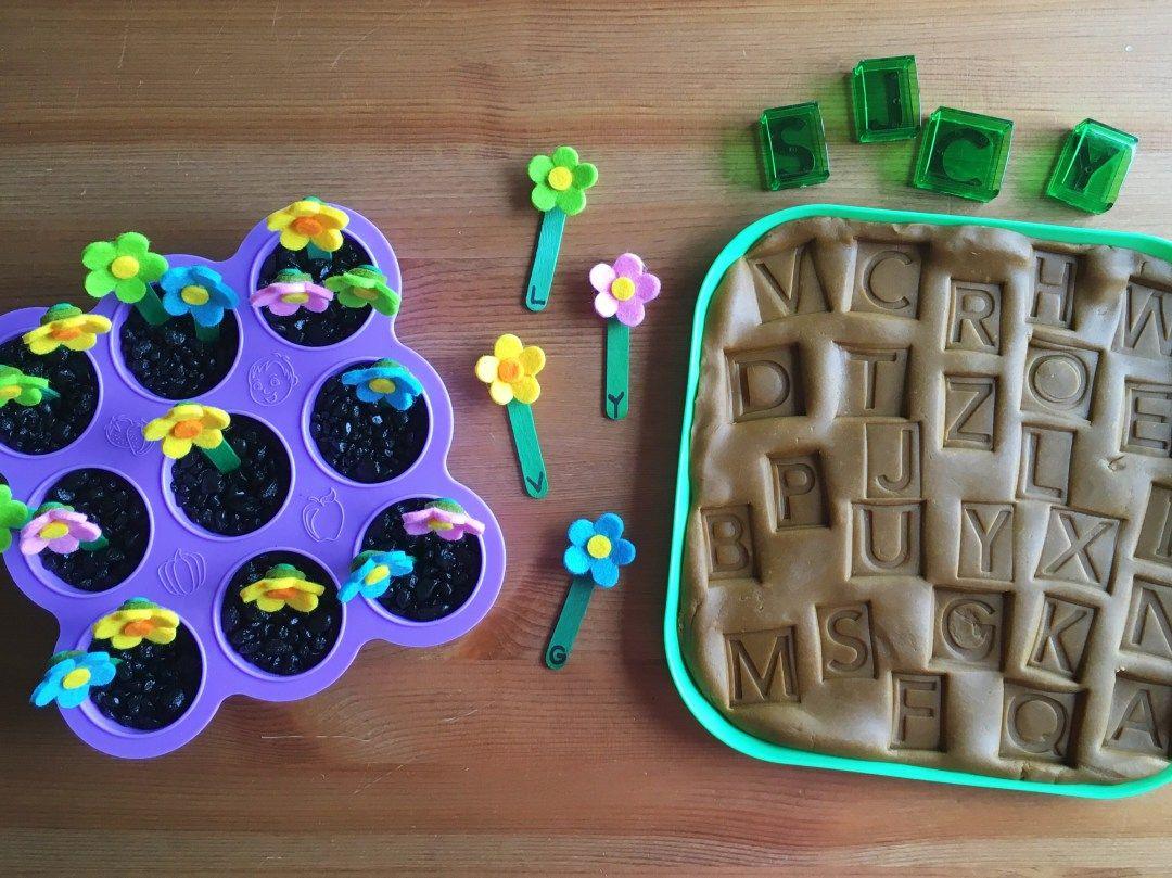 Letter Matching Garden Activity